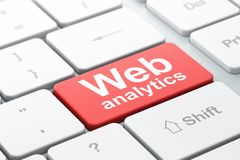 Web design concept: Web Analytics on computer keyboard background stock illustration