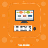 Web design concept Royalty Free Stock Images