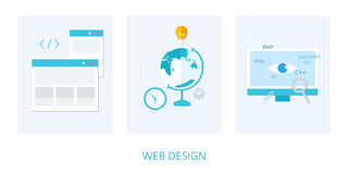 Web design concept icon set Stock Images