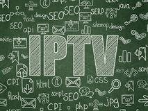 Web design concept: IPTV on School Board Royalty Free Stock Image