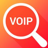 Web Design Concept: Magnifying Optical Glass With Words Voip. Vector illustration Stock Photography