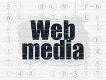Web design concept: Web Media on wall background Royalty Free Stock Image