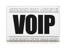 Web design concept: newspaper headline VOIP. On White background, 3D rendering Royalty Free Stock Image