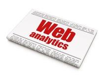 Web design concept: newspaper headline Web Analytics Stock Image