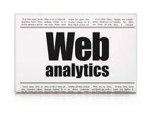 Web design concept: newspaper headline Web Analytics Royalty Free Stock Images
