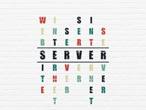 Web design concept: Server in Crossword Puzzle Royalty Free Stock Photography