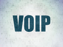 Web design concept: VOIP on Digital Data Paper background. Web design concept: Painted blue word VOIP on Digital Data Paper background Royalty Free Stock Photos