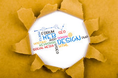 Web design. Concept with related words royalty free stock photos