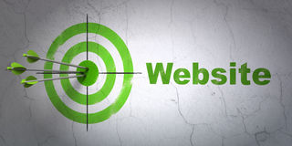 Web Design Concept: Target And Website On Wall Royalty Free Stock Photography