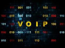 Web design concept: VOIP on Digital background Stock Images