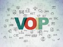 Web design concept: VOIP on Digital Data Paper background. Web design concept: Painted multicolor text VOIP on Digital Data Paper background with  Hand Drawn Stock Photos