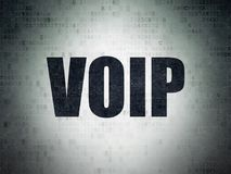 Web design concept: VOIP on Digital Data Paper background. Web design concept: Painted black word VOIP on Digital Data Paper background Royalty Free Stock Images