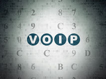Web design concept: VOIP on Digital Paper Royalty Free Stock Images