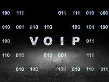 Web design concept: VOIP in grunge dark room Royalty Free Stock Photo
