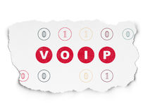 Web design concept: VOIP on Torn Paper background Stock Images