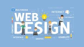 Web design concept. Web design concept illustration. Idea of creating web sites and interface Stock Photo