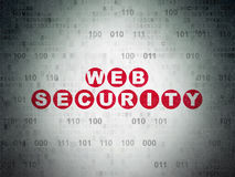 Web design concept: Web Security on Digital Paper Royalty Free Stock Images