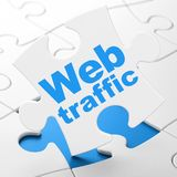 Web design concept: Web Traffic on puzzle background Royalty Free Stock Photos