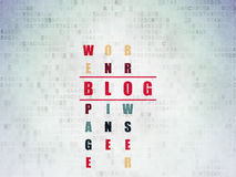 Web design concept: word Blog in solving Crossword Royalty Free Stock Image