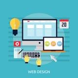 Web design concettuale Fotografia Stock
