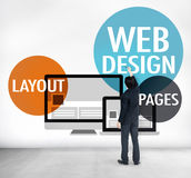 Web Design Content Creative Website Responsive Concept Royalty Free Stock Photography
