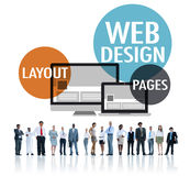 Web Design Content Creative Website Responsive Concept Stock Photography