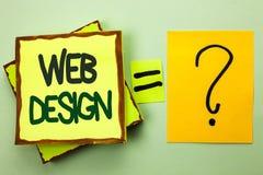 Web design d'écriture des textes d'écriture Navigation sensible de croquis de Webdesign de page Web de calibre de disposition de  Image stock