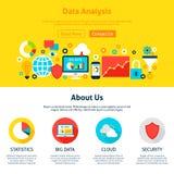 Web design d'analyse de données Images stock