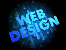 Web Design on Dark Digital Background. Royalty Free Stock Photos
