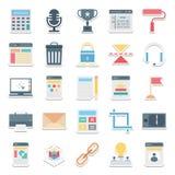 Web design, dati ed icone di vettore isolate sviluppo illustrazione di stock