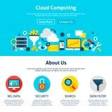 Web design de calcul de nuage illustration stock