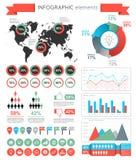 Web design de calibre d'éléments d'Infographic illustration stock