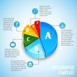 Web design de graphique circulaire infographic Photographie stock