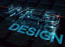 web design de l'inscription 3d Photos stock