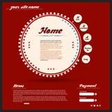 Web design dell'annata Fotografia Stock Libera da Diritti