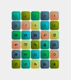 Web design della raccolta dei bottoni Fotografie Stock