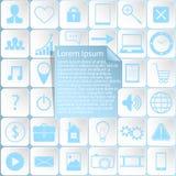 Web design delle icone dell'autoadesivo Illustrazione Vettoriale