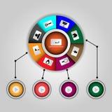 Web design delle icone di Infographics Immagini Stock