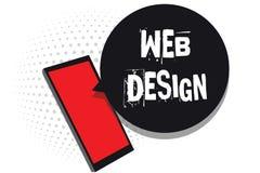 Web design des textes d'écriture de Word Concept d'affaires pour qui est responsable de la production et de l'entretien du receiv illustration de vecteur