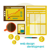 Web design development Stock Photo