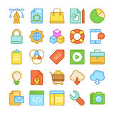 Web Design and Development Colored Vector Icons 1 Stock Photos