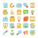 Web Design and Development Colored Vector Icons 2 Stock Photo
