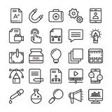 Web Design and Development Colored Vector Icons 2 Royalty Free Stock Photo
