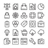 Web Design and Development Colored Vector Icons 1 Royalty Free Stock Images
