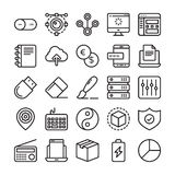 Web Design and Development Colored Vector Icons 5 Stock Image
