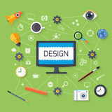 Web design and development concept Stock Photography