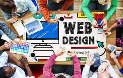 Web Design Development Style Ideas Interface Concept Royalty Free Stock Images
