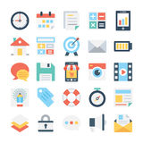 Web Design and Development Vector Icons 3 Royalty Free Stock Photos