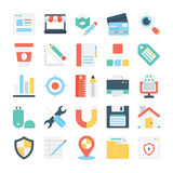 Web Design and Development Vector Icons 5 Stock Photo