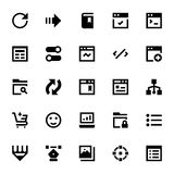 Web Design and Development Vector Icons 6 Royalty Free Stock Photo